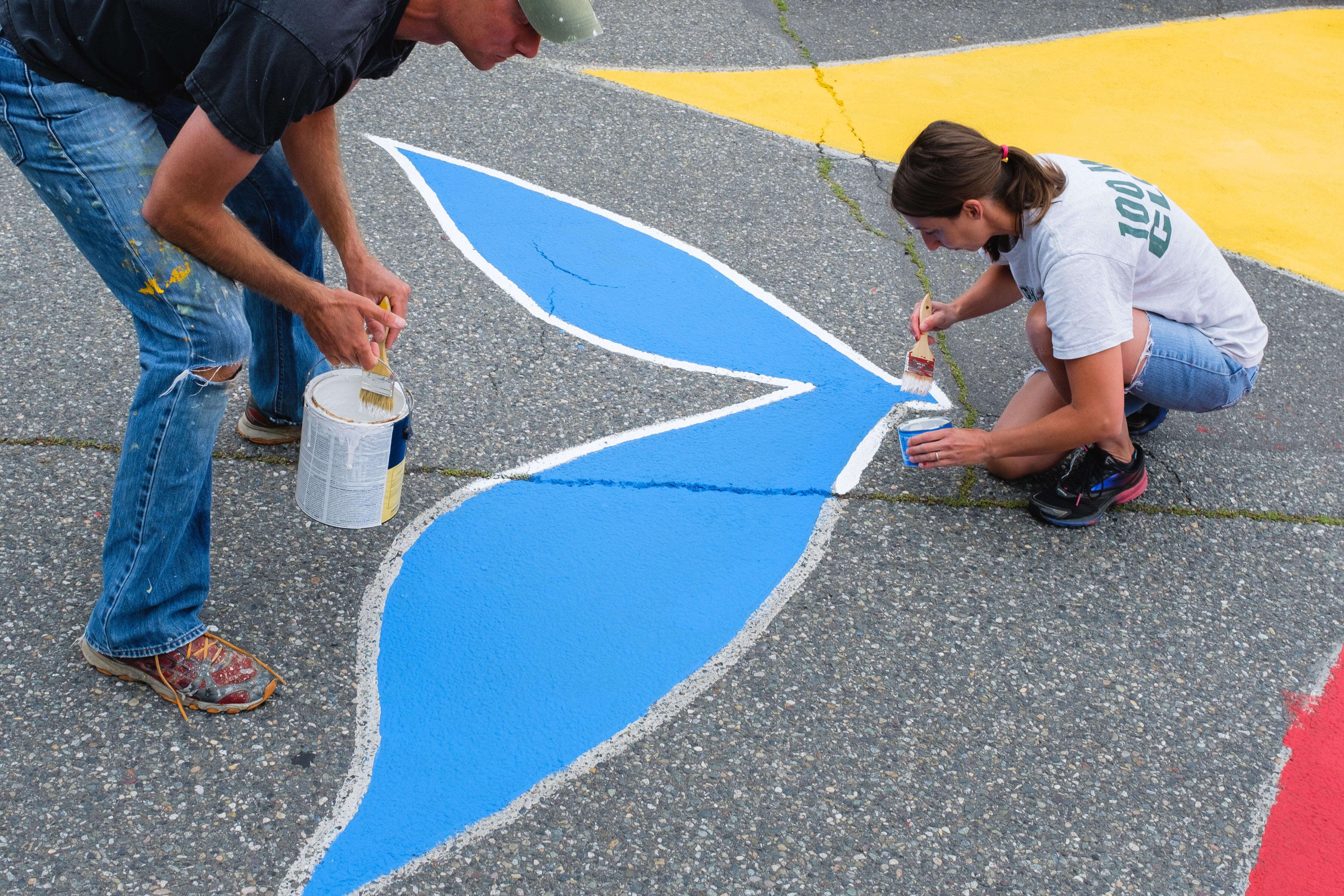 Painting the Town Again: Intersection Mural Blessing, August 18, 2019