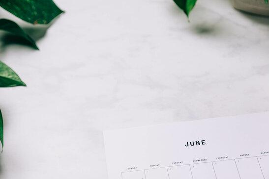 Printed June Calendar