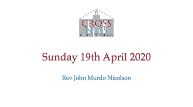 Sunday 19th April 2020
