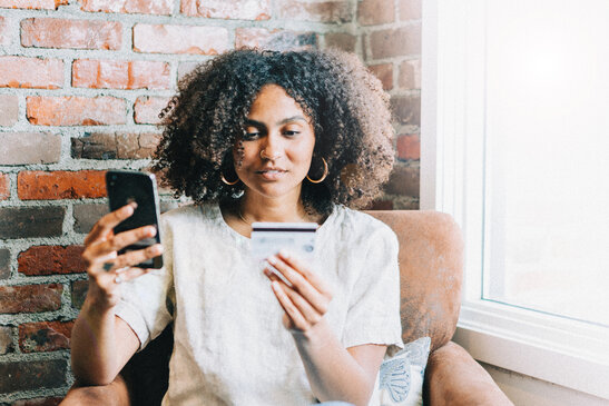 Woman Giving Online