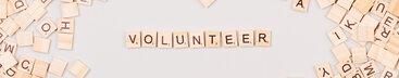 Volunteer Written with Scrabble Letters