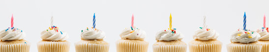 Cupcakes with Birthday Candles
