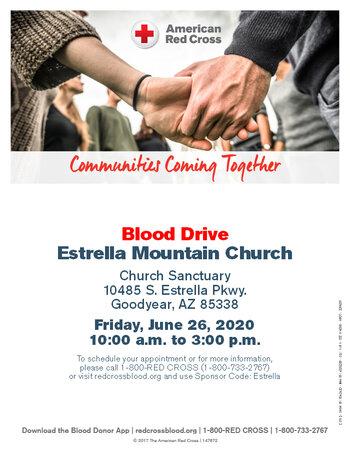 Blood Drive June 26 2020