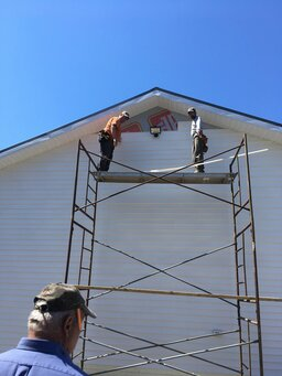 Working On The Siding 4