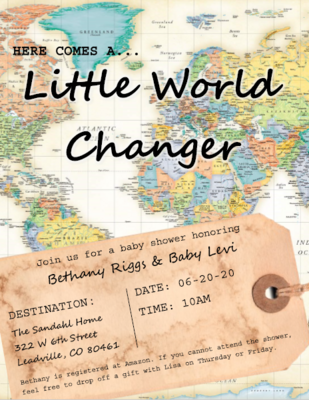 Riggs Baby Shower Invite