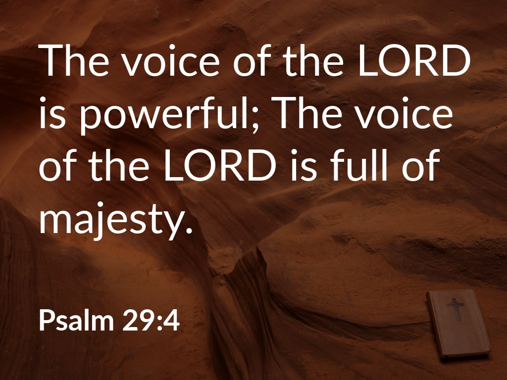 Praising the Powerful Voice of Christ