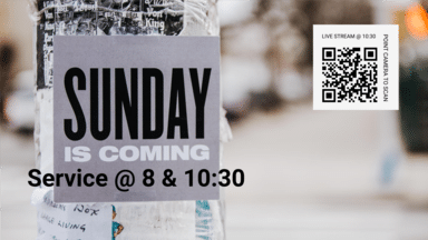 Sunday Is Coming Poster In The City 16X9 2A63d3ea-4C83-43Da Addc-38D14b8a0efc