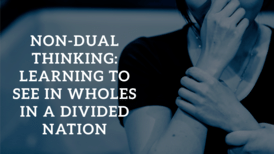 Non Dual Thinking Learning To See In Wholes In A Divided Nation