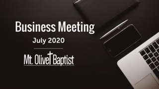Business Meeting July 2020