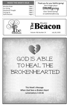 The Weekly Beacon 07.26.20 1