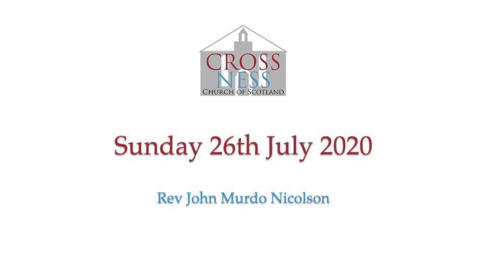 Sunday 26th July