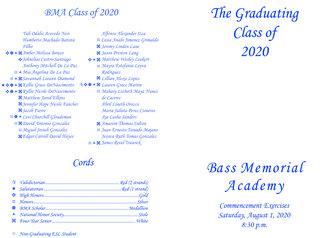 BMA Graduation Bulletin - 2020-1