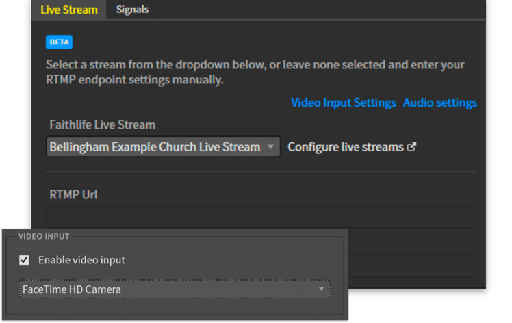Live stream screen shot