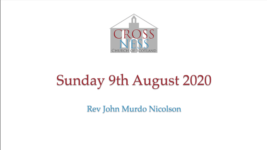 Sunday morning 9th August 2020