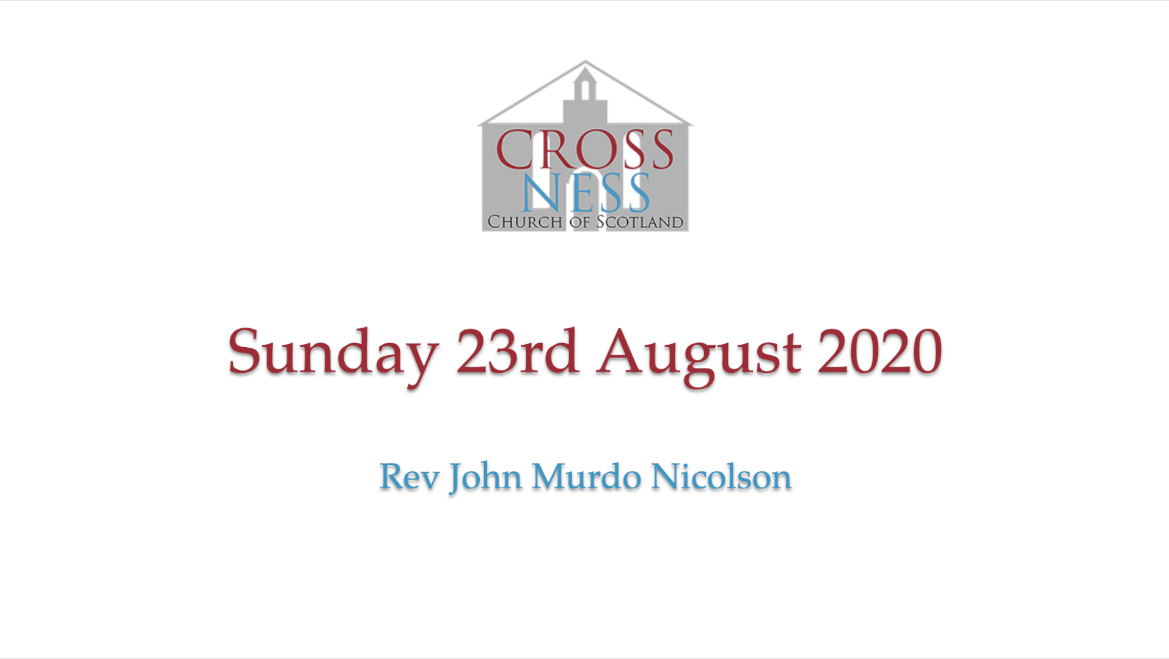 Sunday 23rd August