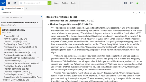 Bible Outline Browser