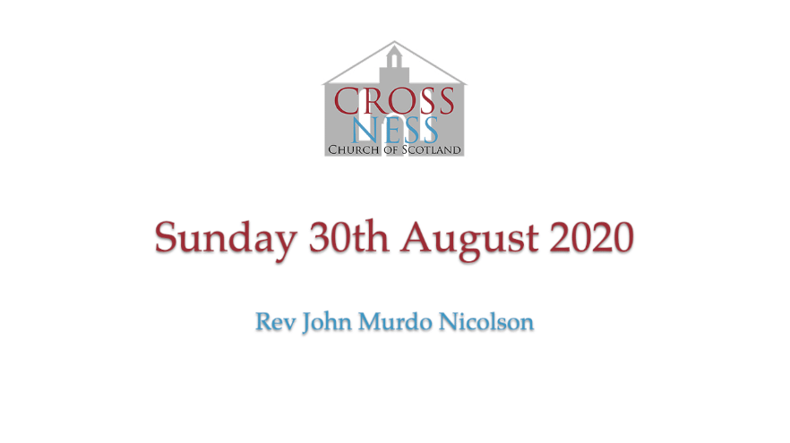 Morning service Sunday 30th August
