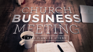 Church Business Meeting 1