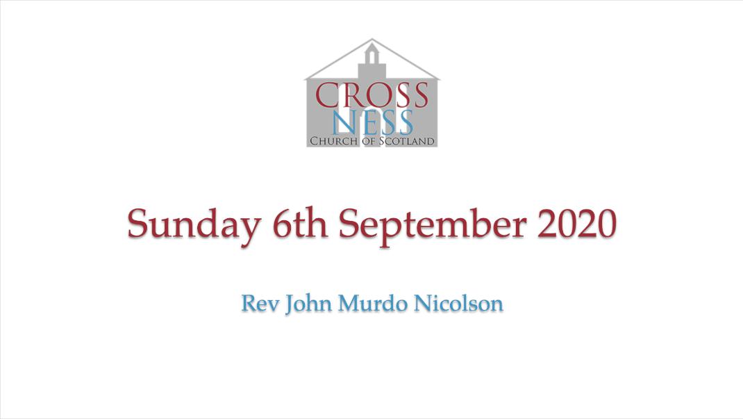 Sunday 6th September 2020