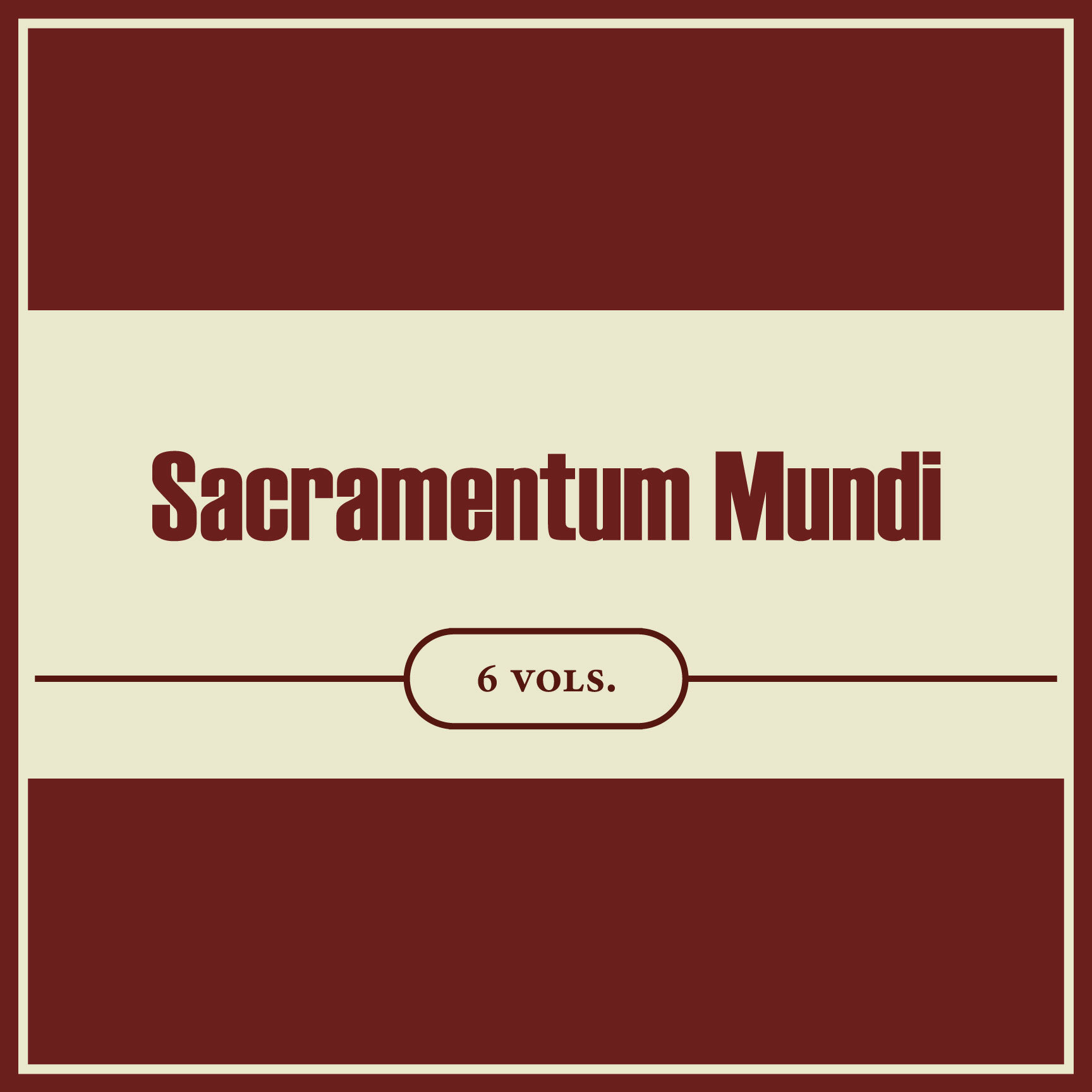 Sacramentum Mundi: An Encyclopedia of Theology (6 vols.)
