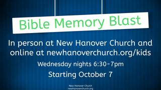 Bible Memory Blast NEW