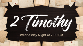 2 Timothy Wed. Bible Study