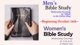 Seasonal Wed. Night Bible Study (Men & Women)