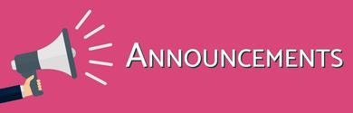 Announcements Megaphone Dark Pinkish
