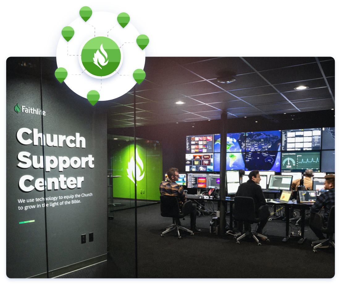 Church support center helping online giving churches