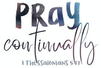 Pray Continuousily