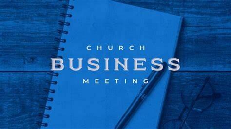 Church Business Meeting 2