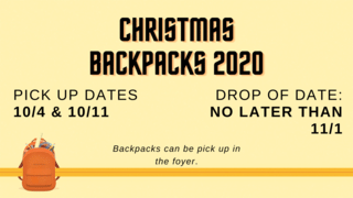 Christmas Backpacks 2020