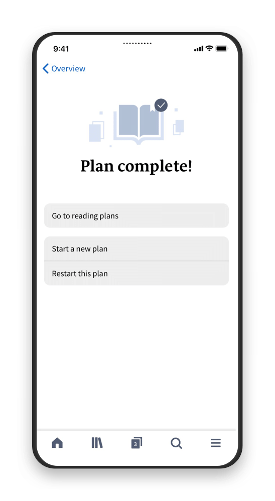 Smart Phone with Reading Plans