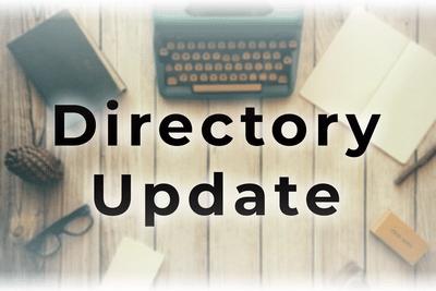 Directory Update 10-11-2020