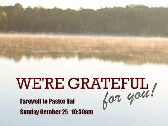 Farewell To Pastor Hal 1