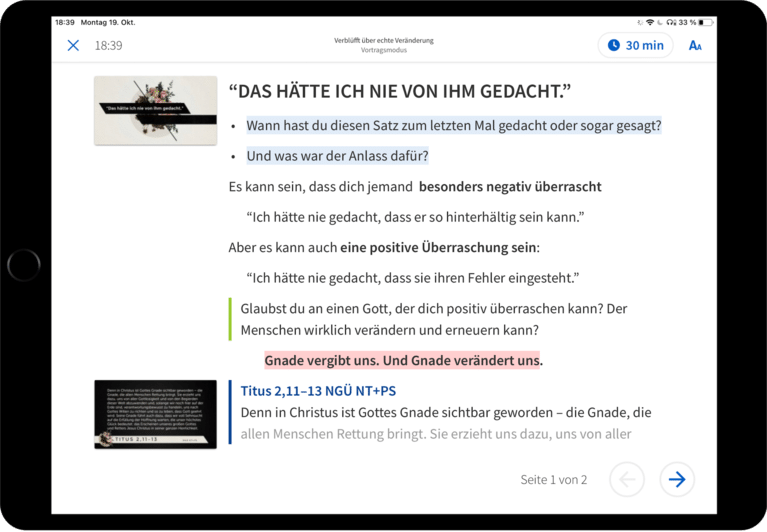 Logos Sermon Manager screen shot