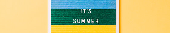 It's Summer Letter Board on Yellow Background