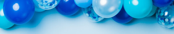 Blue Balloon Garland