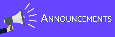 Announcements Megaphone Blueish