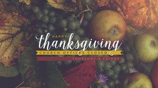 Thanksgiving Office Hours Slide
