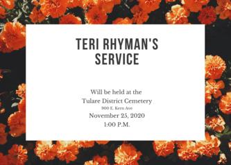 Teri rhyman's home going celebration!