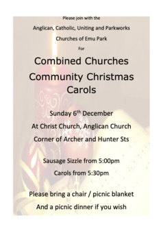 2020 Combined Carols Poster