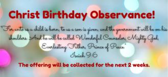 Christ Birthday Offering