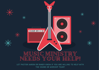 music ministry needs your help!