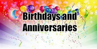 Birthdays And Anniversaries