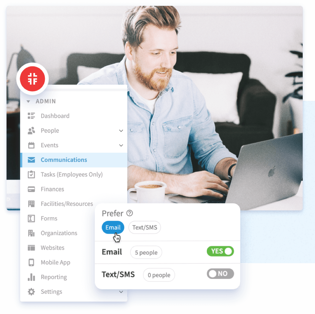 Communication preferences screenshot
