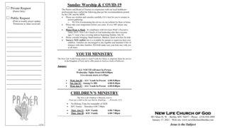 2021-01-17 Sunday Bulletin 2