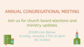 Congregational Meeting 2021