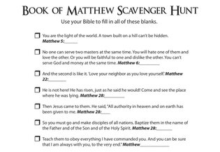 Matthew Scavenger Hunt