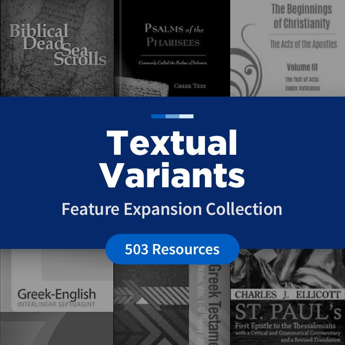 Textual Variants Feature Expansion Collection (503 Resources)